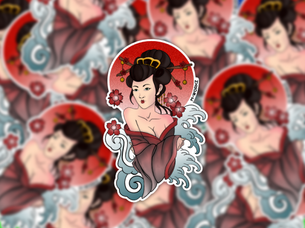 Sticker - Geisha