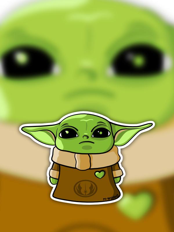 Sticker - Yoda